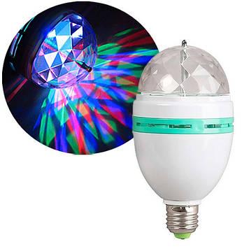 Светодиодная вращающаяся диско лампа с патроном Mini Pаrty Light Lаmp