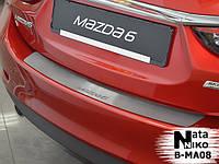 Mazda 6 2013+ гг. Накладка на задний бампер Натанико (нерж.)
