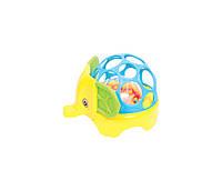 """Іграшка-брязкальце для дітей Їжачок т/м """"Lindo"""" жовто-синій Б 342"""