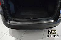 Honda CRV 2012-2016 гг. Накладка на задний бампер Натанико (нерж.)
