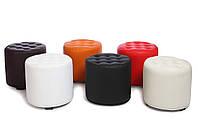 Небольшой пуфик-банкетка в прихожую MS-700  Оранжевый,пуфик,пуфики,пуф кожзам,пуф экокожа,банкетка,б, фото 3