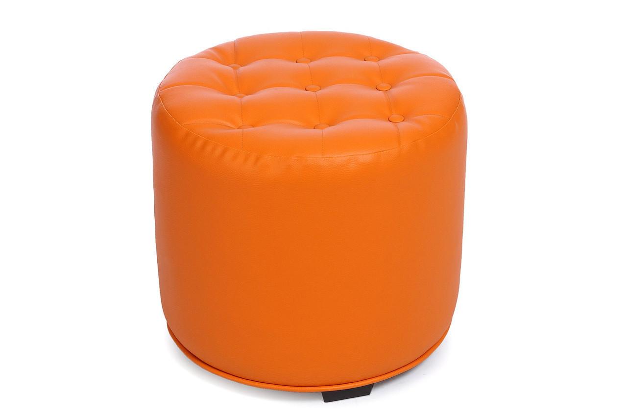 Небольшой пуфик-банкетка в прихожую MS-700  Оранжевый,пуфик,пуфики,пуф кожзам,пуф экокожа,банкетка,б