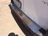 Fiat Doblo II 2005+ гг. Накладка на задний бампер с загибом Натанико (нерж.)