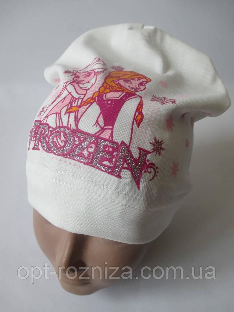 Красивые шапочки девичьи с рисунком.