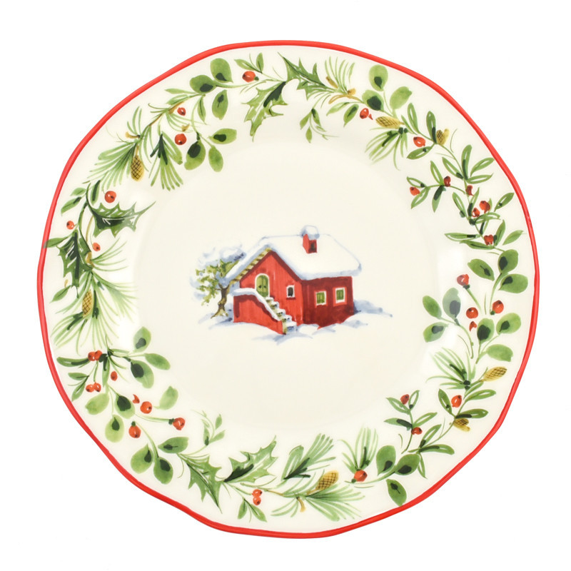 Тарілка обідня Італія Villa Grazia Premium Лісова казка 30 см (BHDP30GIU-1)