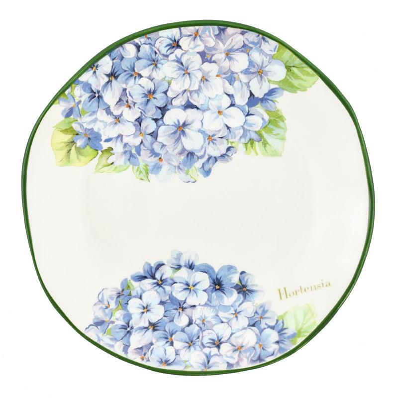 Набір обідніх тарілок Італія Villa Grazia Premium Блакитна Гортензія 29 см, 6 шт (HIDP29I-set)