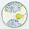 Набір обідніх тарілок Італія Villa Grazia Premium Блакитна Гортензія 29 см, 6 шт (HIDP29I-set), фото 3