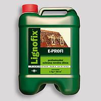 Антисептик-концентрат Lignofix-E-Profi 5л. пропитка для дерева кровельная. Коричневый