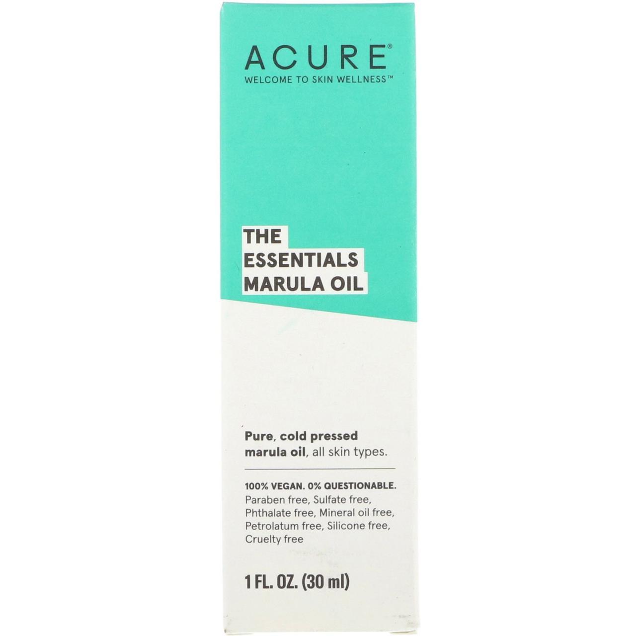 Масло марулы, Acure Organics, Marula Oil,  30 мл