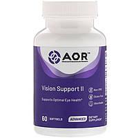 Advanced Orthomolecular Research AOR, Класична серія, підтримка зору II, 60 гельових капсул