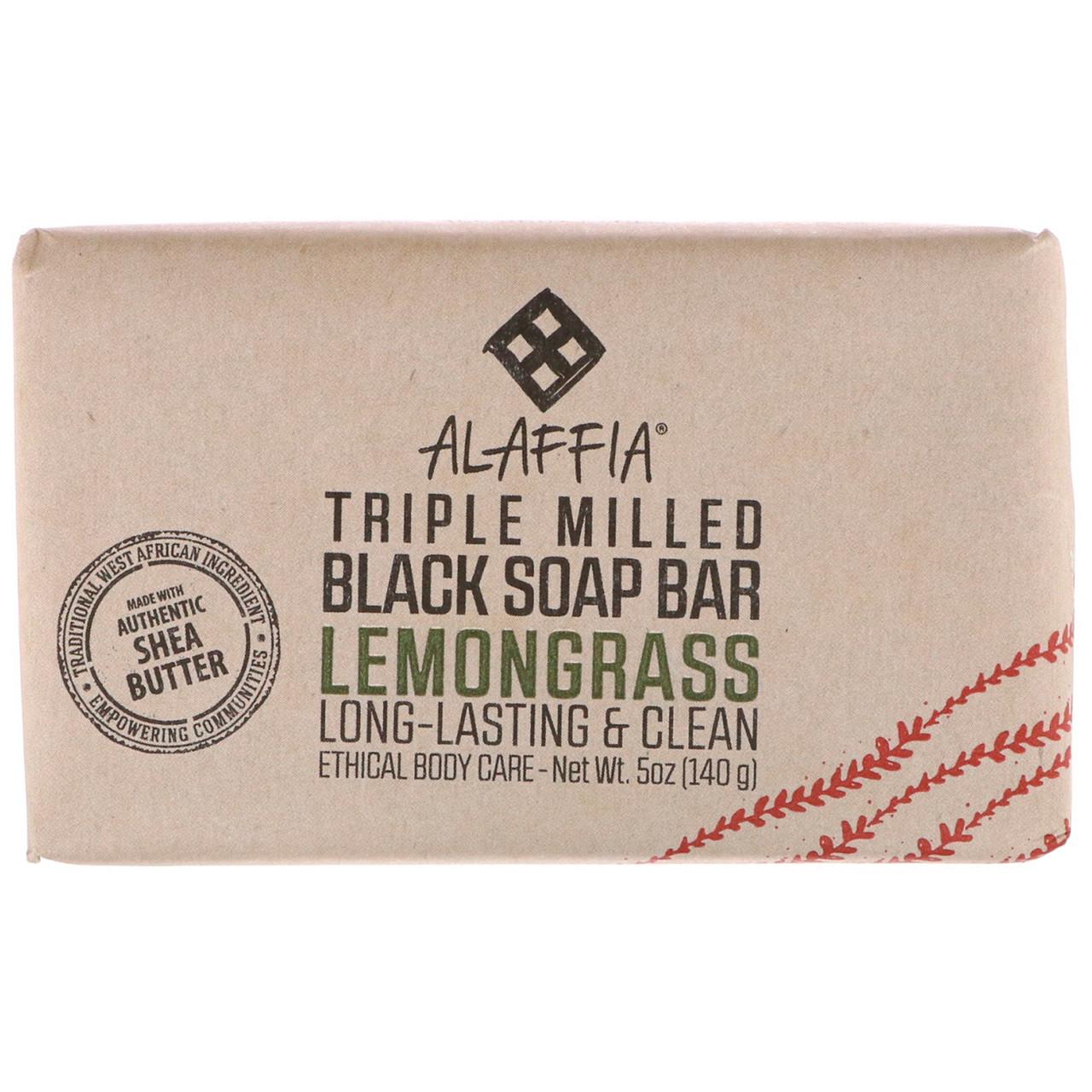 Мыло темное Лимонник, Black Soap, Alaffia, 142 гр.
