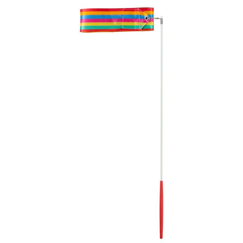 Лента гимнастическая 4м радуга.
