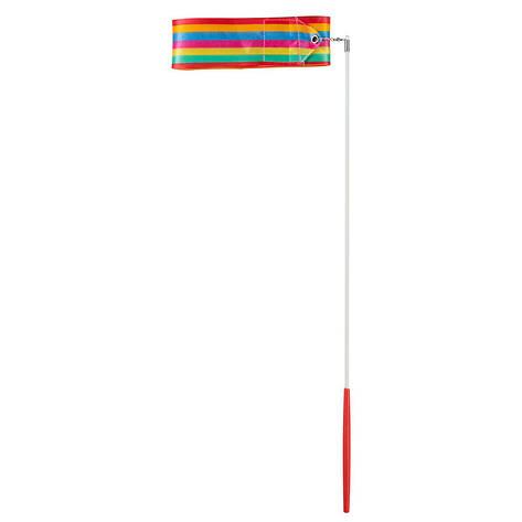 Лента гимнастическая 4м радуга., фото 2