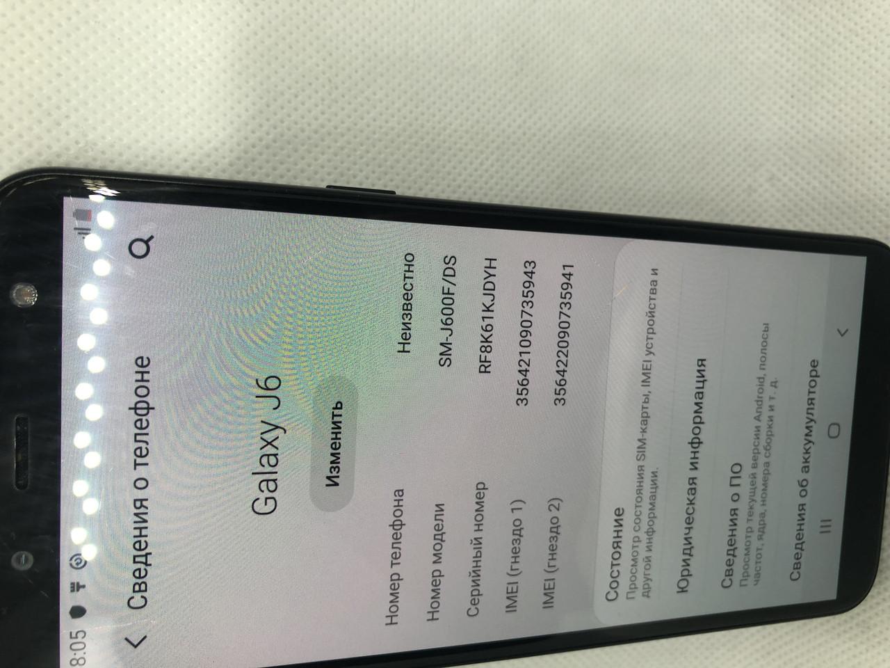 Samsung Galaxy J6 2018 32GB Black  116ВР