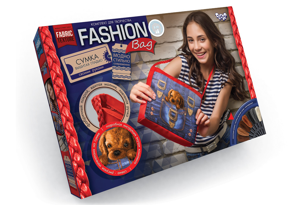 Сумка вишита стрічками Danko Toys (FBG-01-04)