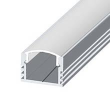 КОМПЛЕКТ!!! Профиль LED BIOM ЛП12 + рассеиватель матовый, (алюминий анодированный + поликарбонат).