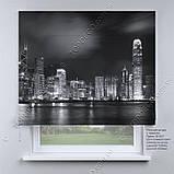 Римская фото штора Ночной город. Бесплатная доставка. Любой размер до 3,5х3,5м. Гарантия. Арт. 15-15-7, фото 2
