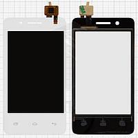 Сенсорный экран для мобильного телефона Fly IQ436i Era Nano 9, белый