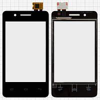 Сенсорный экран для мобильного телефона Fly IQ436i Era Nano 9, черный