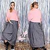 Стильный повседневный  женский комплект с юбкой в бохостиле.