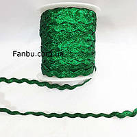 Зелена блискуча тасьма березка (ширина 8мм)(1 уп =45м), фото 1