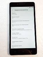 Мобильный телефон Lenovo A6000 Black, Оригинал нет звука, не работает микрофон, б/у