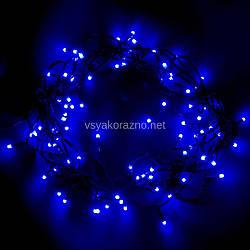 Гирлянда светодиодная на елку 100 LED 7 метров (голубой)