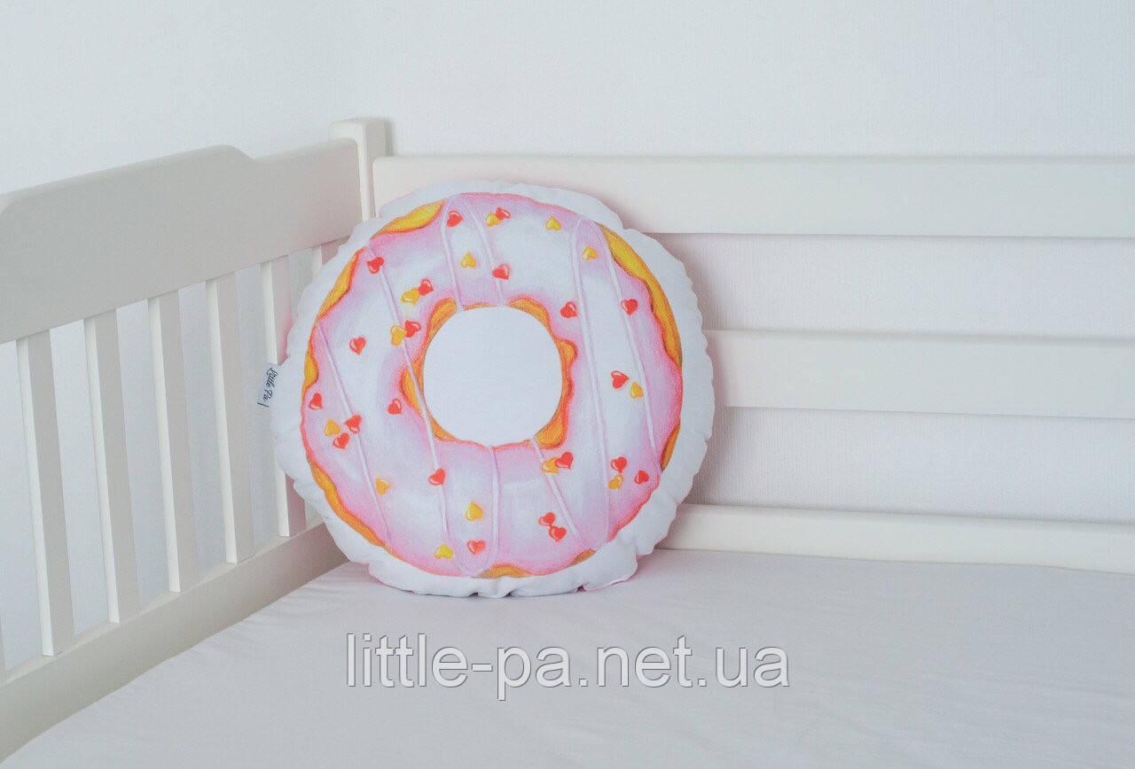 """Подушка хлопковая """"Пончик розовый"""""""