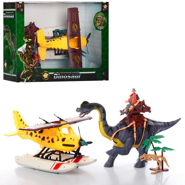 Набор игровой, динозавр 41см, звук, подвижная шея, 2121-26B