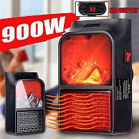 Обогреватель Портативный FLAME HEATER 900W с LCD-дисплеем, пультом Д/У, электро камин + подарок