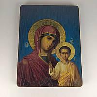 Ікона дерев'яна 14,3*19см Б. М. Казанська