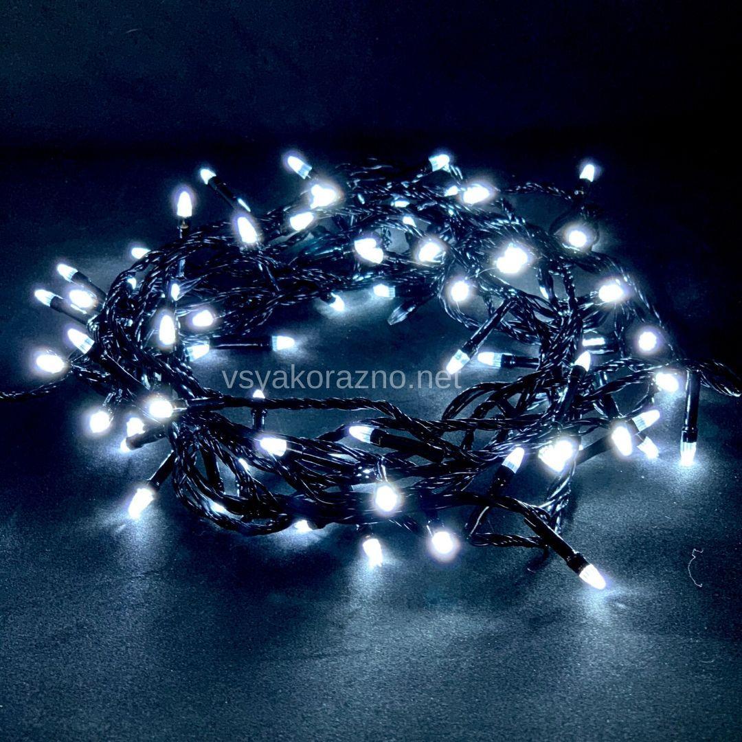 Гирлянда светодиодная на елку 100 LED 7 метров (белый)