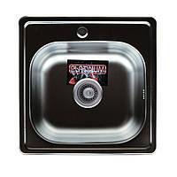Врезная кухонная мойка Platinum 48*48 (cм) в покрытии Polish (полированная), с толщиной 0,6 (мм)
