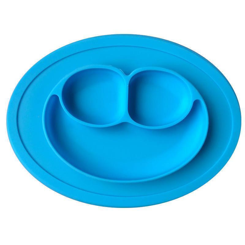 Силиконовая тарелка-коврик  (CK-14500) (Синяя)