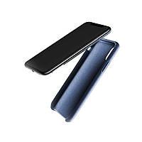 Кожаный чехол MUJJO Full Leather Case Blue для iPhone X/XS