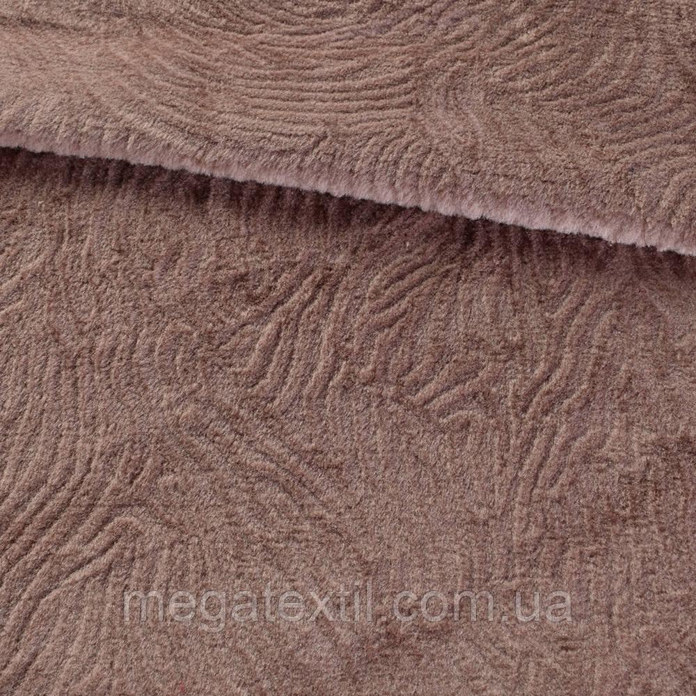 Хутро штучне мутон з тисненням какао, ш.160 (21582.004)
