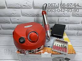 Фрезер для маникюра Nail Drill ZS-601, 65 Вт на 45000 об (красный