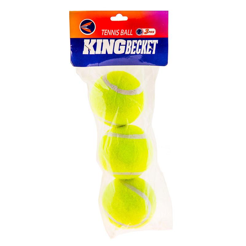 Мяч теннис King-Becket, пакет 3шт