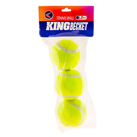 Мяч теннис King-Becket, пакет 3шт, фото 2