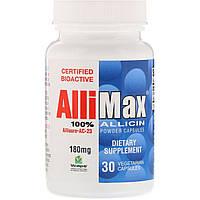 Allimax, Капсулы с порошком 100%-ного аллицина, 180 мг, 30 капсул в растительной оболочке
