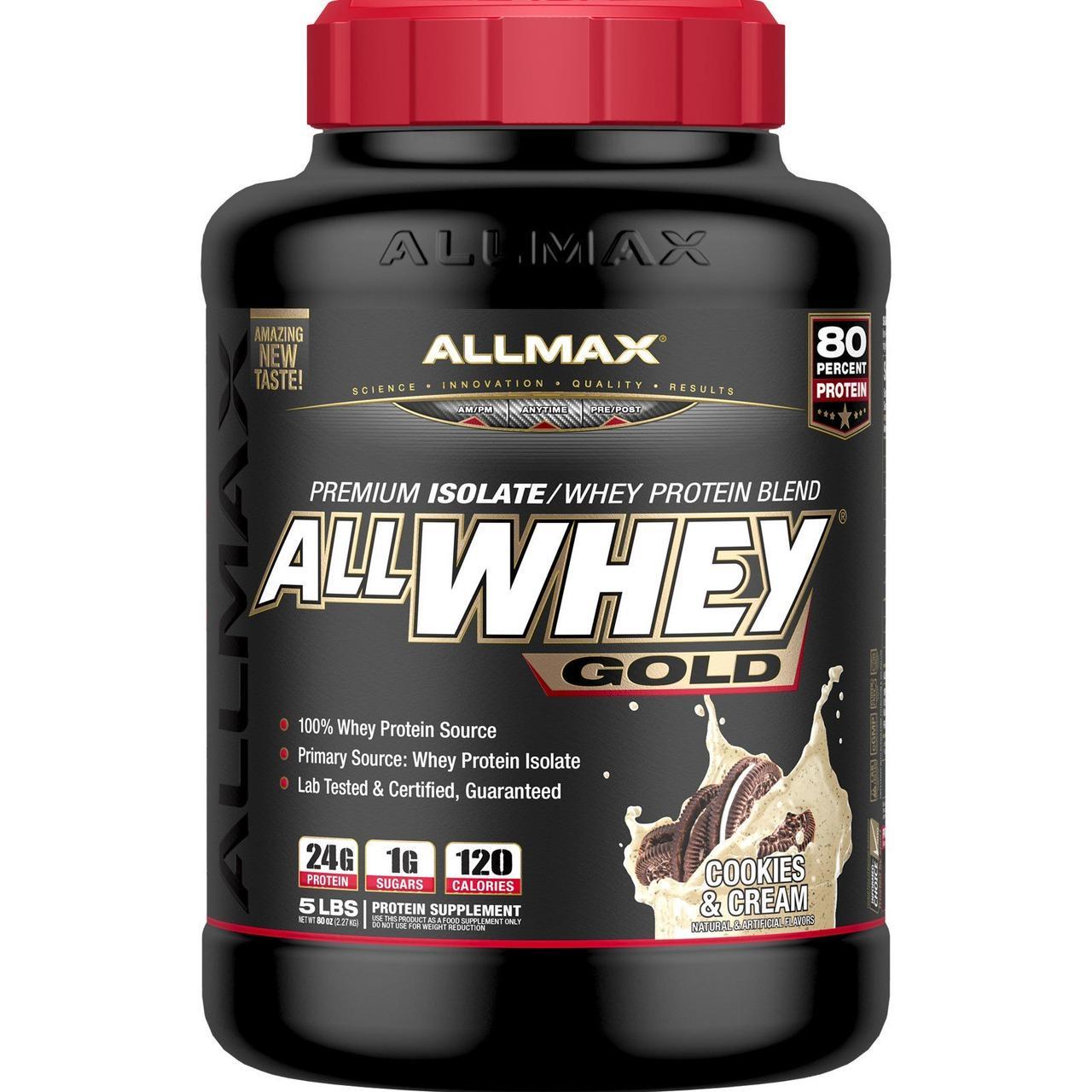 Премиум Изолят/Смесь Сывороточного Протеина, Печенье и Сливки, Premium Isolate, ALLMAX Nutrition, 2.27 кг.