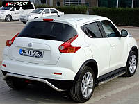 Nissan Juke 2010+ гг. Боковые площадки BlackLine (2 шт, алюминий)