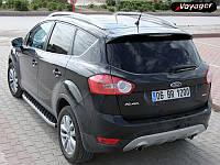 Ford Kuga 2013+/2016+ гг. Боковые площадки BlackLine (2 шт, алюминий)