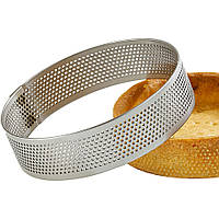 Перфорированное кондитерское кольцо для выпечки 15,0 см высота 2,0 см нержавеющая сталь