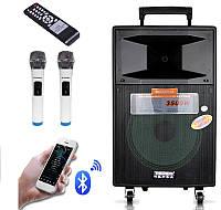 Аккумуляторна колонка з мікрофонами SL12-04 200W (/USB/Bluetooth/AUX), фото 1