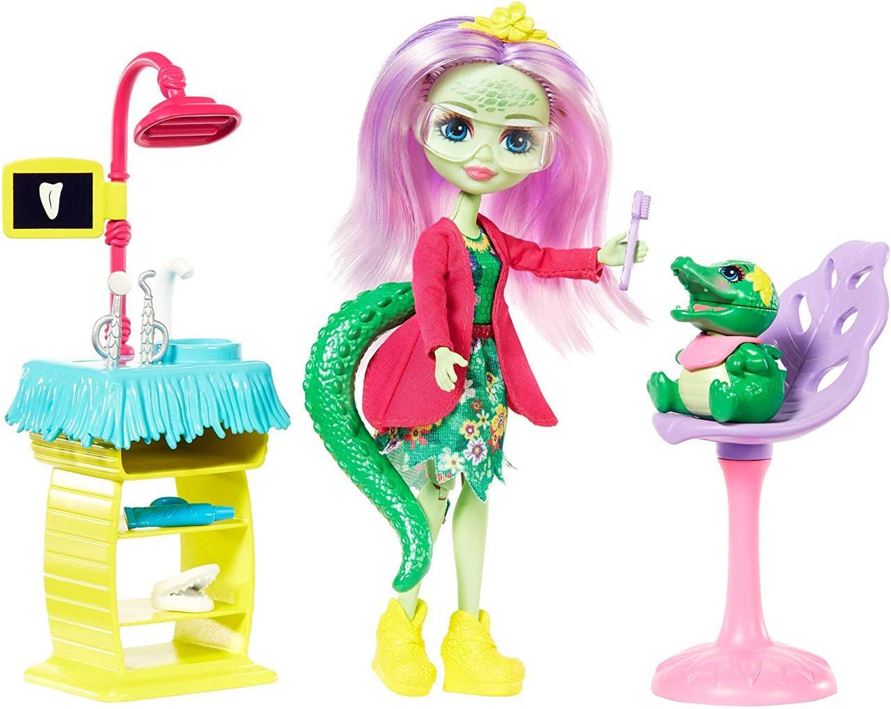Энчантималс Стоматология Энди Крокодилли и Марши Mattel Enchantimals Smilin' Dentist & Andie Alligator