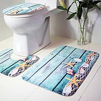 Набор ковриков в ванную комнату антискользящих 3 шт