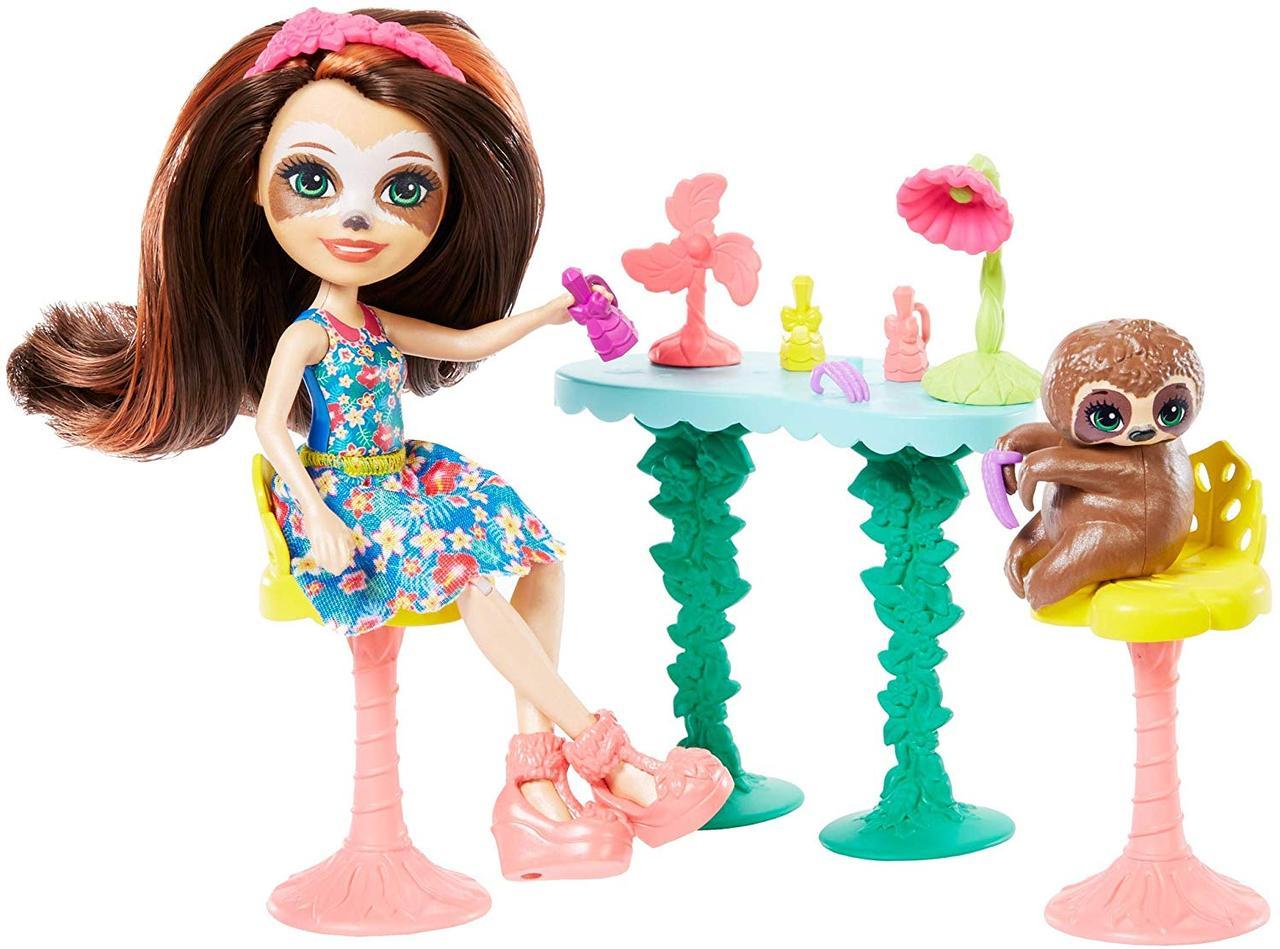 Энчантималс Салон краси Сэлы Ленні з ленивцем Mattel Enchantimals Slow-Down Salon & Sela Sloth