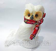 Новогодняя фигура Сова в шарфе 21 см