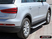 Audi Q7 2005-2015 гг. Боковые площадки BlackLine (2 шт, алюминий)